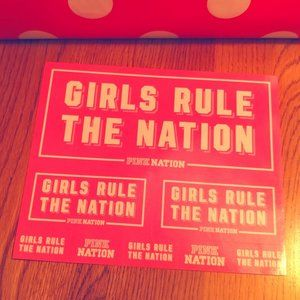 FREE with PINK purchase! PINK Nation stickers